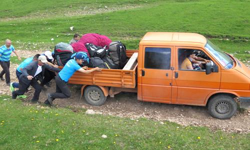 Startplatzauffahrt Rumänien