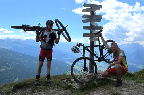 mountainbike reise alpenueberquerung transalp