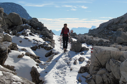 huettentrekking wandern in den alpen