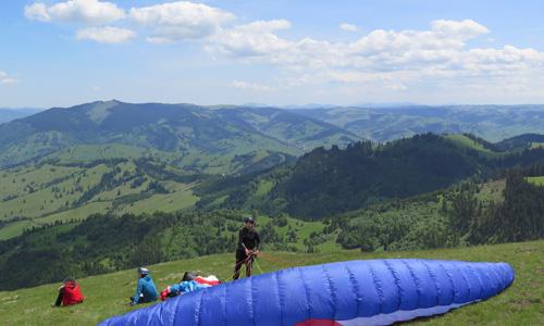 Gleitschirmfliegen in Rumänien