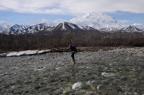 skiueberschreitung des mount mckinley alaska
