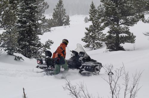 snowmobil ausfahrt in kanada bc